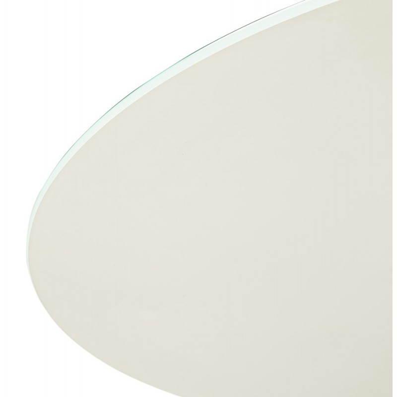 Design Esstisch Runde MANGO (weiß) temperiert Gläser (Ø 120 cm) - image 25727