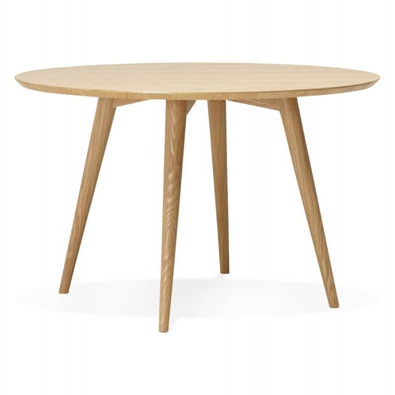 Table à manger style scandinave ronde PONY en bois (Ø 120 cm) (naturel) - image 25742