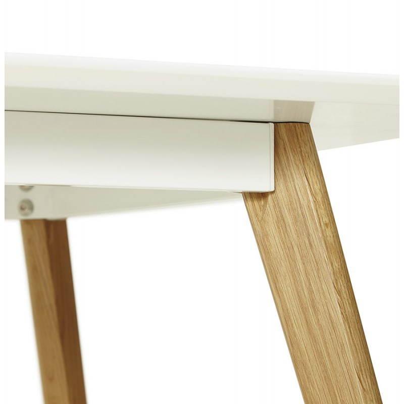 Table manger style scandinave rectangulaire orge en bois - Table a manger bois blanc ...