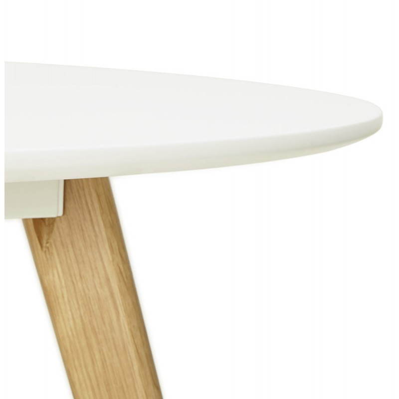 Table à manger style scandinave ronde MILLET en bois (Ø 120 cm) (blanc) - image 25768