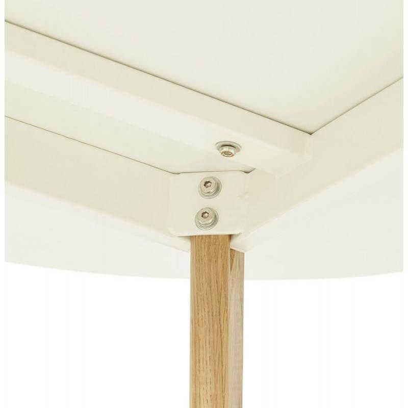 Table à manger style scandinave ronde MILLET en bois (Ø 120 cm) (blanc) - image 25770