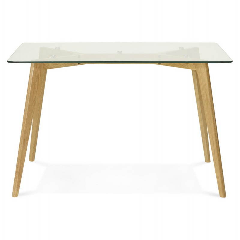 Table manger style scandinave rectangulaire varin en - Table en verre rectangulaire ...