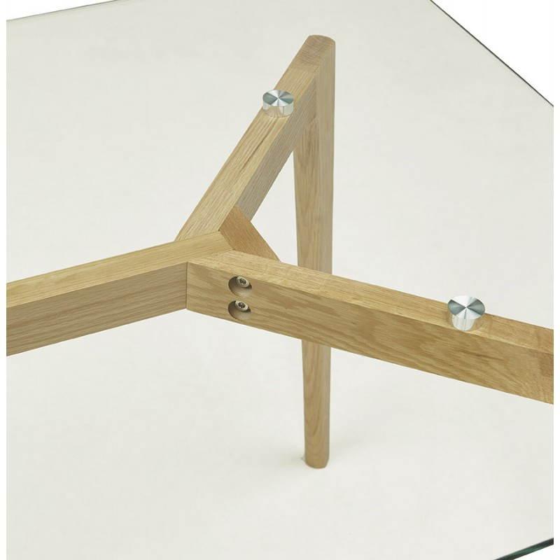 Table à manger style scandinave rectangulaire VARIN en verre (120cmX80cmX75cm) - image 25779