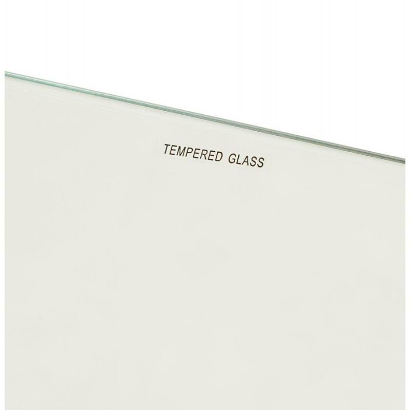 Table à manger style scandinave rectangulaire VARIN en verre (120cmX80cmX75cm) - image 25781