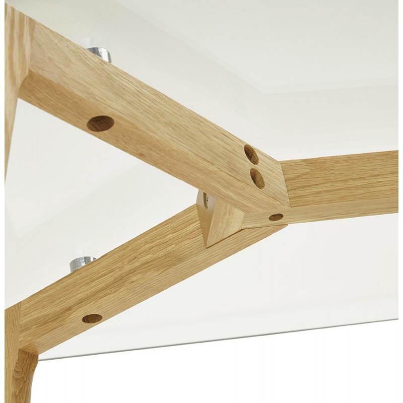 Table à manger style scandinave rectangulaire VARIN en verre (120cmX80cmX75cm) - image 25784