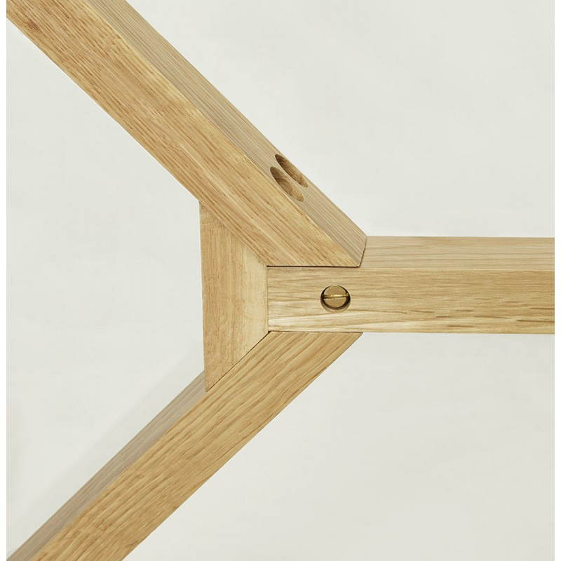 Table à manger style scandinave rectangulaire VARIN en verre (120cmX80cmX75cm) - image 25785