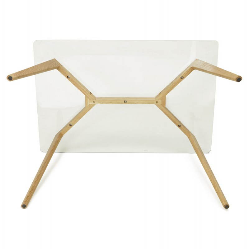 Table à manger style scandinave rectangulaire VARIN en verre (120cmX80cmX75cm) - image 25788