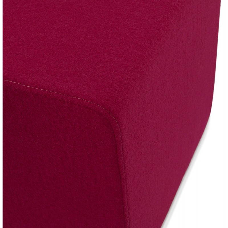 Pouf carré BARILLA en tissu (fushia) - image 25794