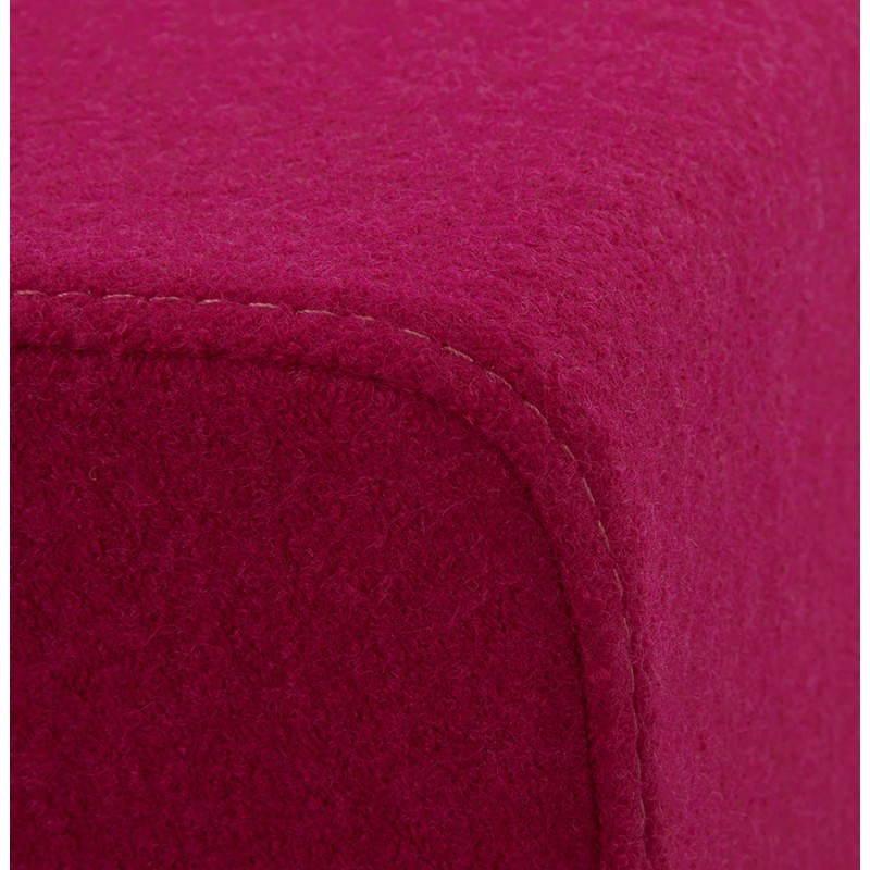 Pouf carré BARILLA en tissu (fushia) - image 25796