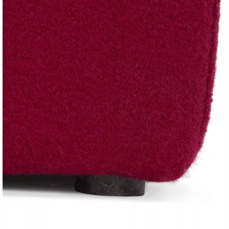 Pouf carré BARILLA en tissu (fushia) - image 25797