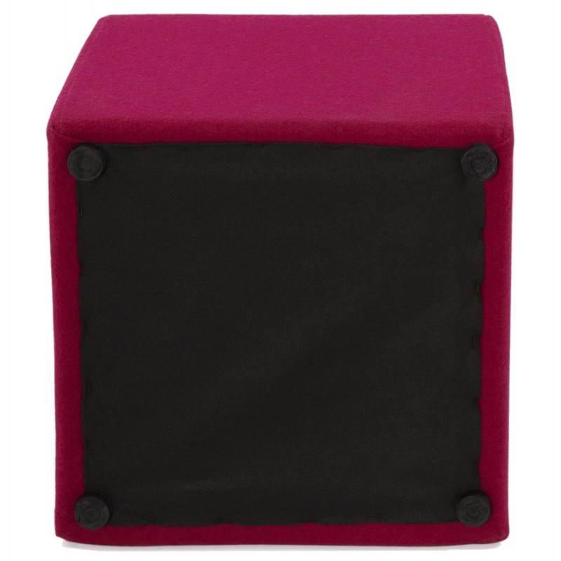 Pouf carré BARILLA en tissu (fushia) - image 25798