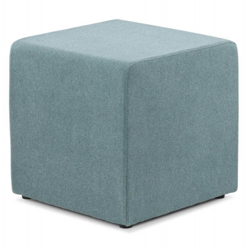 Pouf carré BARILLA en tissu (bleu) - image 25803