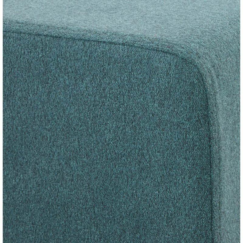 Pouf carré BARILLA en tissu (bleu) - image 25805