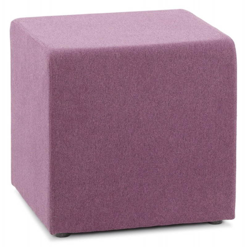 Pouf carré BARILLA en tissu (violet) - image 25810