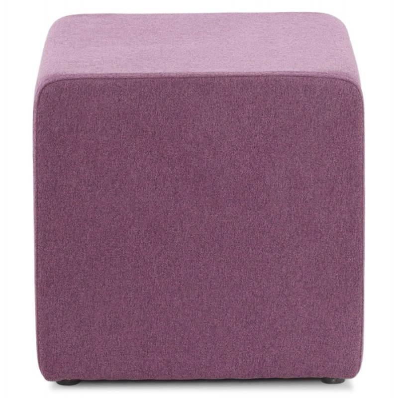 Pouf carré BARILLA en tissu (violet) - image 25812
