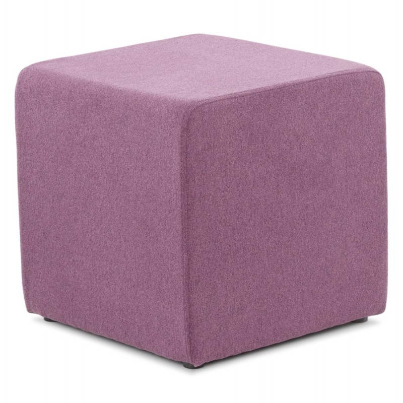 pouf carr barilla en tissu violet. Black Bedroom Furniture Sets. Home Design Ideas