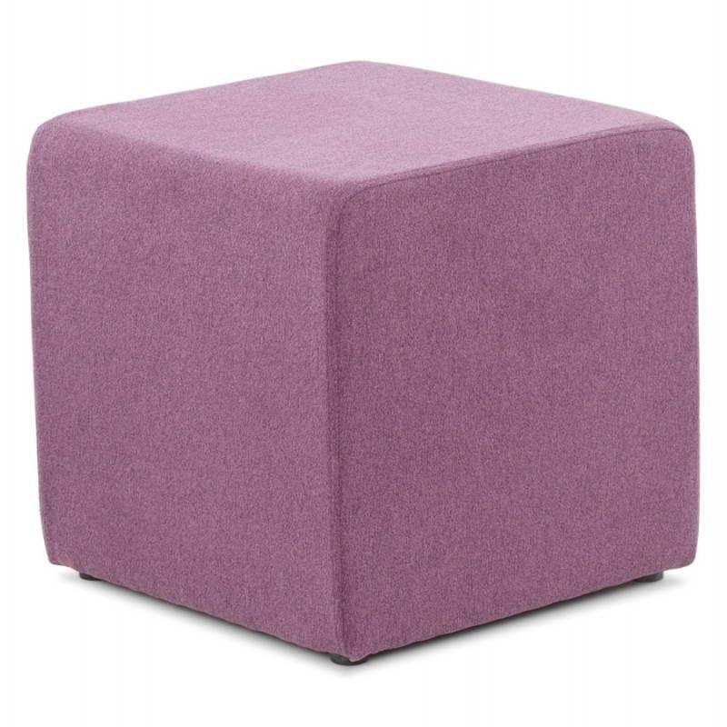 Pouf carré BARILLA en tissu (violet) - image 25813