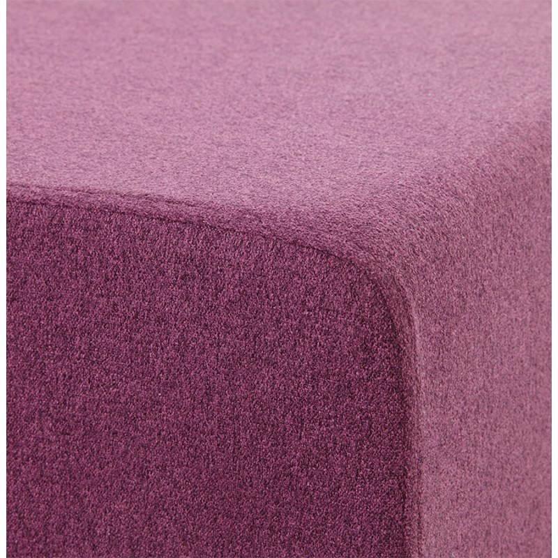 Pouf carré BARILLA en tissu (violet) - image 25819
