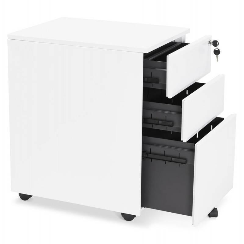 Caisson de bureau design 3 tiroirs MATHIAS en métal (blanc) - image 25934