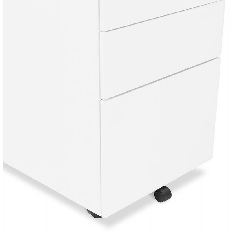 Caisson de bureau design 3 tiroirs MATHIAS en métal (blanc) - image 25942