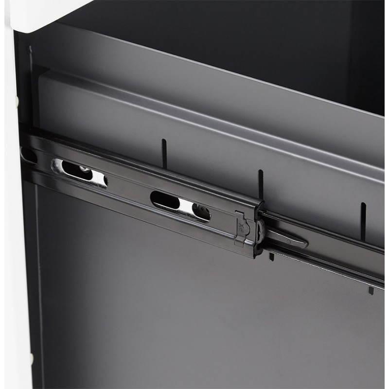 Caisson de bureau design 3 tiroirs MATHIAS en métal (blanc) - image 25944