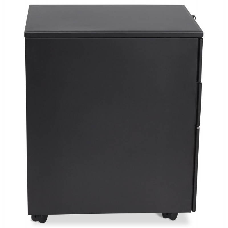 Subwoofer design desk 3 drawers MATHIAS (black) metal - image 25948