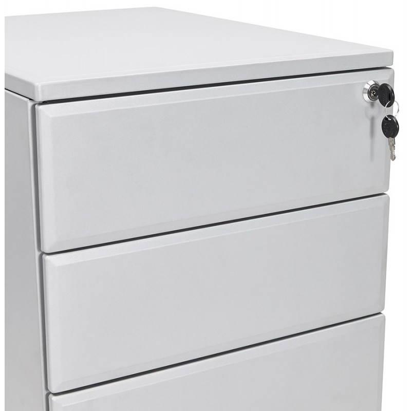 Caisson de bureau design 3 tiroirs MATHIAS en métal (gris) - image 25971