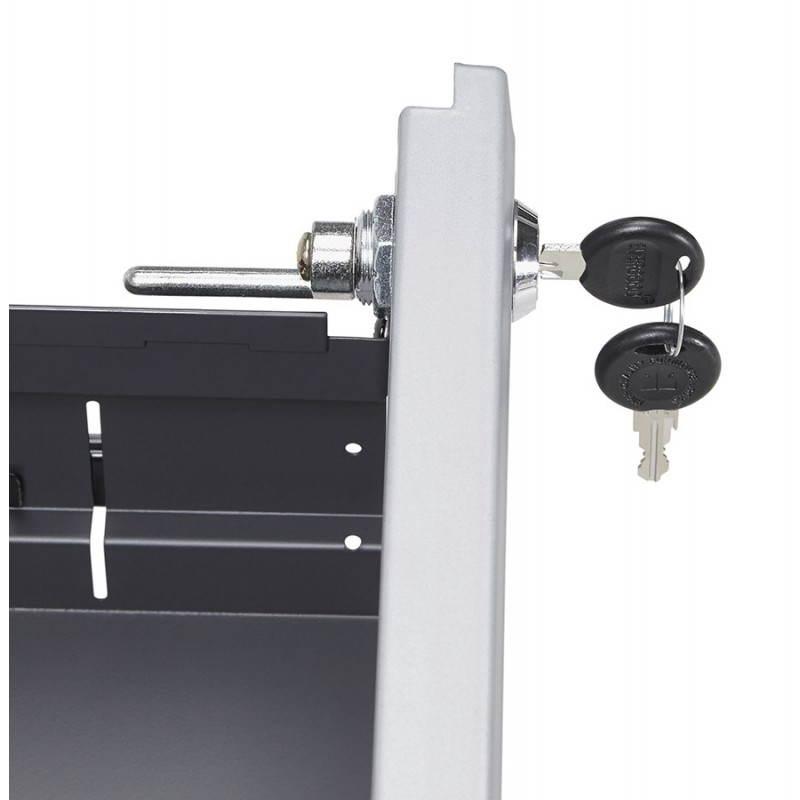 Caisson de bureau design 3 tiroirs MATHIAS en métal (gris) - image 25975