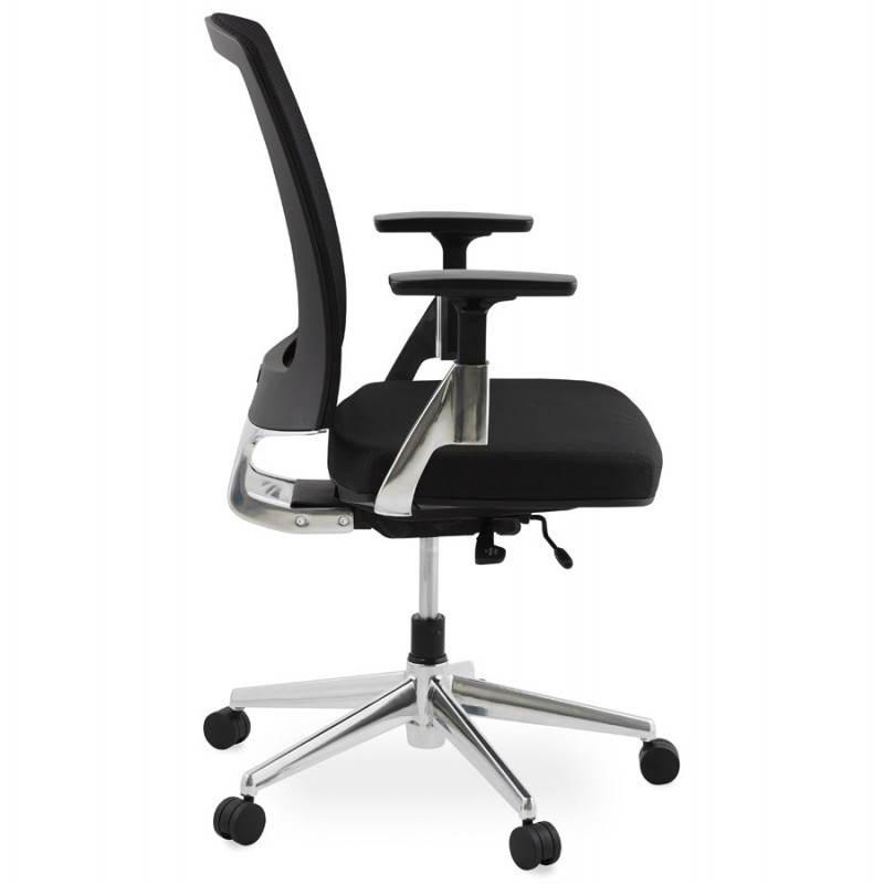 Fauteuil de bureau ergonomique LEO en tissu (noir ) - image 25982
