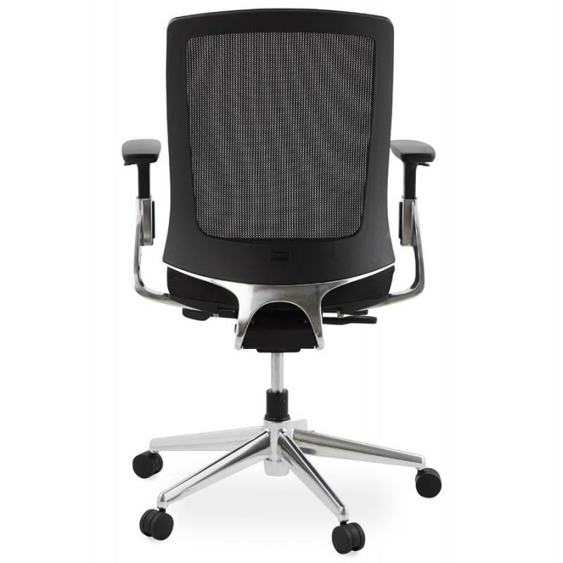 Fauteuil de bureau ergonomique LEO en tissu (noir ) - image 25984