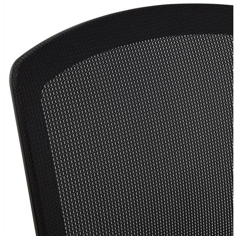 Fauteuil de bureau ergonomique LEO en tissu (noir ) - image 25986