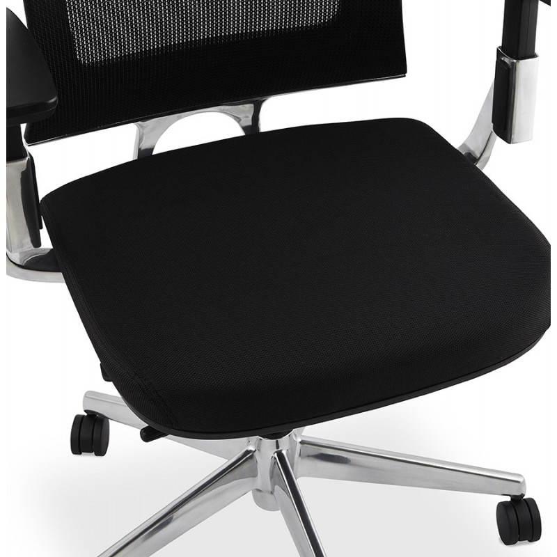 Fauteuil de bureau ergonomique LEO en tissu (noir ) - image 25987