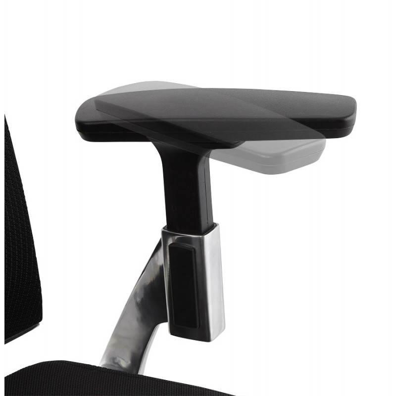 Ergonomic Office LEO (black) fabric armchair - image 25990