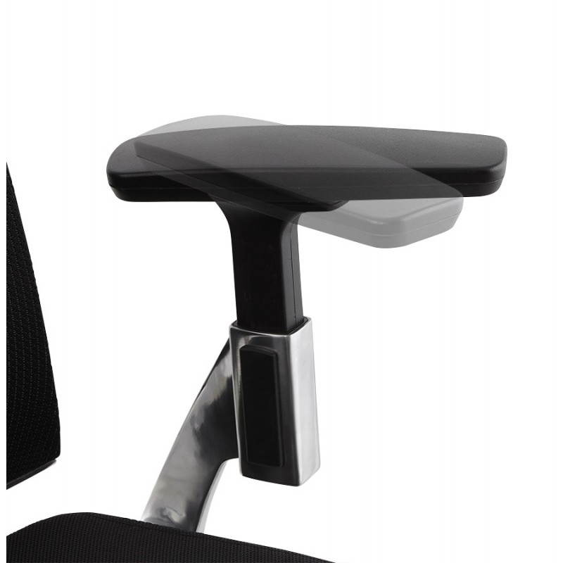 Fauteuil de bureau ergonomique LEO en tissu (noir ) - image 25990