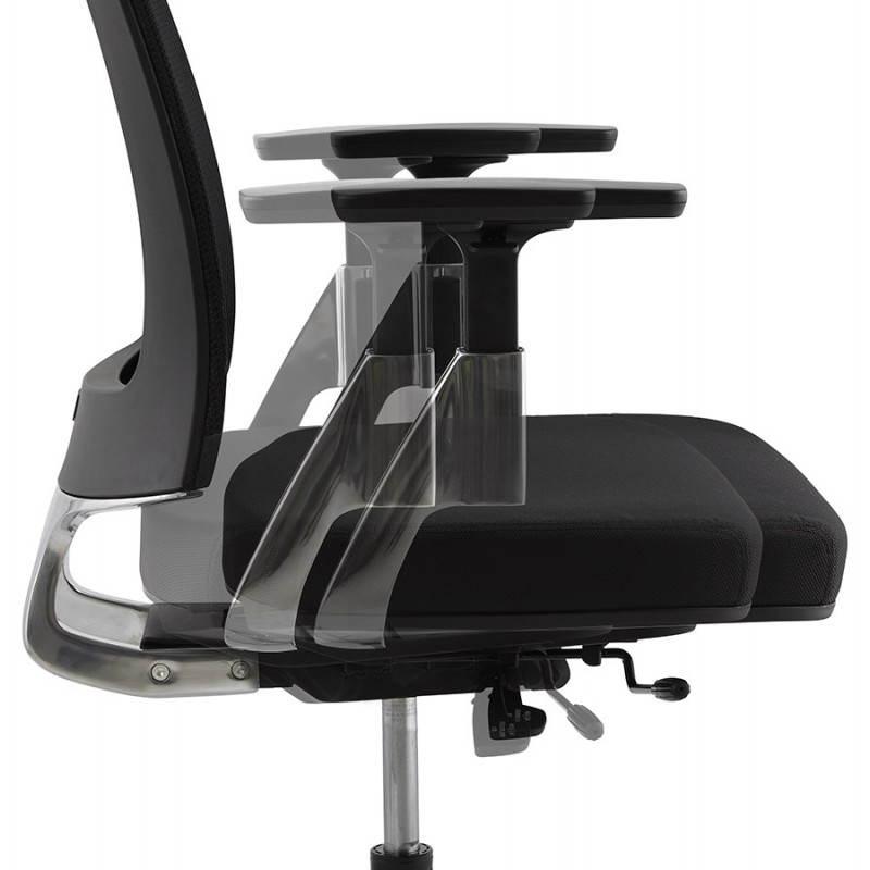Fauteuil de bureau ergonomique LEO en tissu (noir ) - image 25991