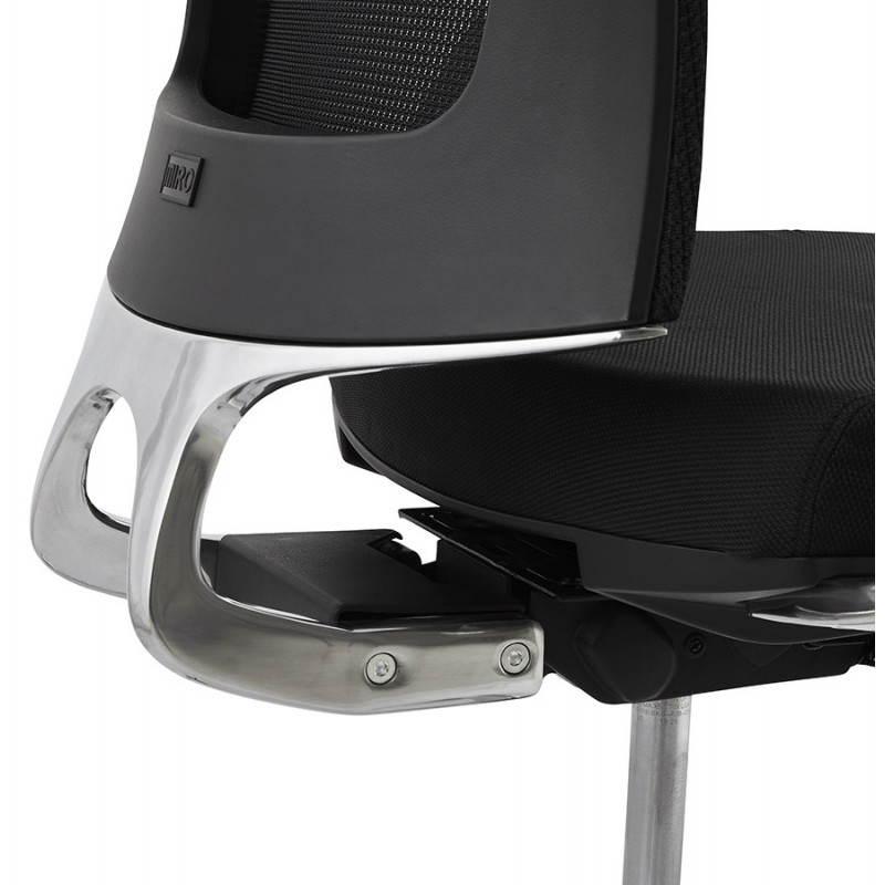 Fauteuil de bureau ergonomique LEO en tissu (noir ) - image 25992