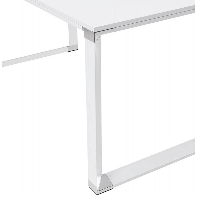 Bureau droit design BOUNY en bois (blanc) - image 26002