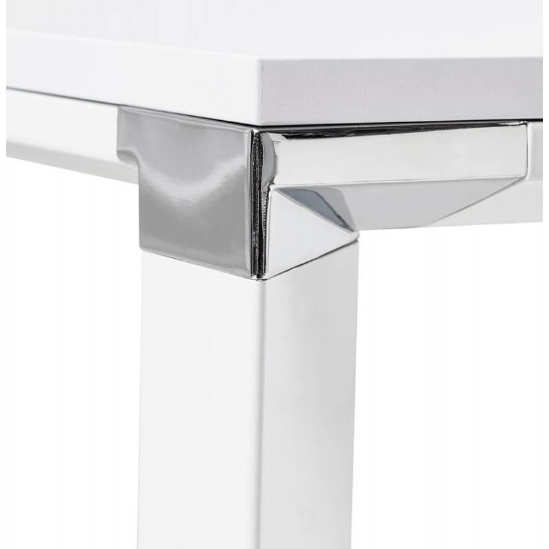 Bureau droit design BOUNY en bois (blanc) - image 26004