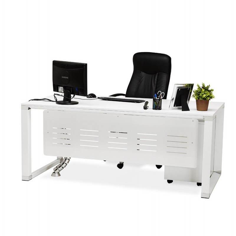 Bureau droit design BOUNY en bois (blanc) - image 26009