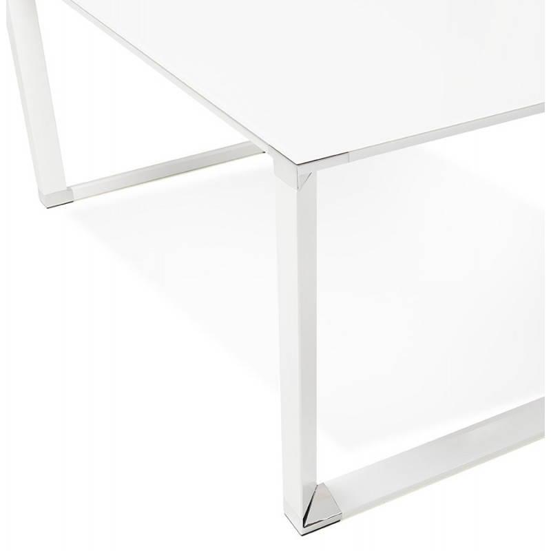 Bureau droit design BOIN en verre trempé (blanc) - image 26015