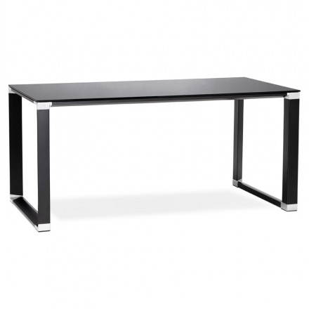 Tempered glass (black) design right desk BOIN