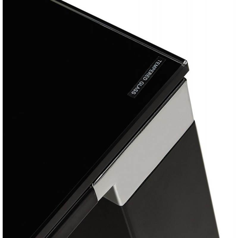 Bureau droit design BOIN en verre trempé (noir) - image 26036