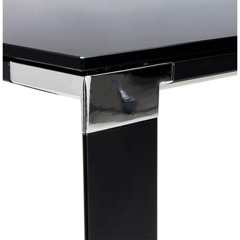 Bureau droit design BOIN en verre trempé (noir) - image 26039