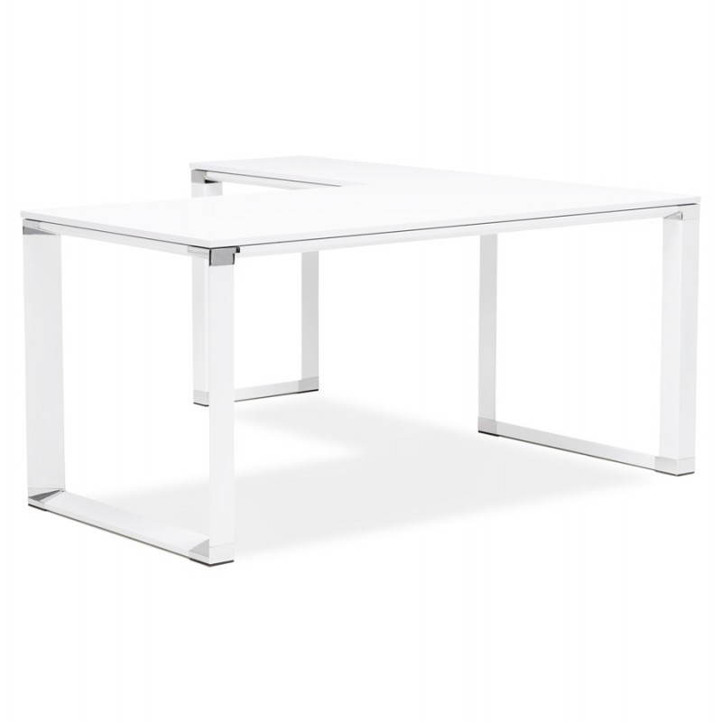 Bureau d'angle design CORPORATE en bois (blanc) - image 26051