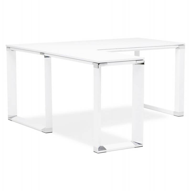 Bureau d'angle design CORPORATE en bois (blanc) - image 26059