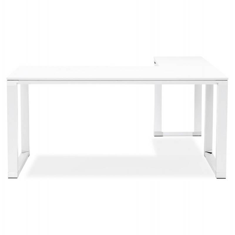 Bureau d'angle design CORPORATE en bois (blanc) - image 26067