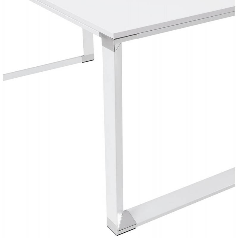 Bureau d'angle design CORPORATE en bois (blanc) - image 26069