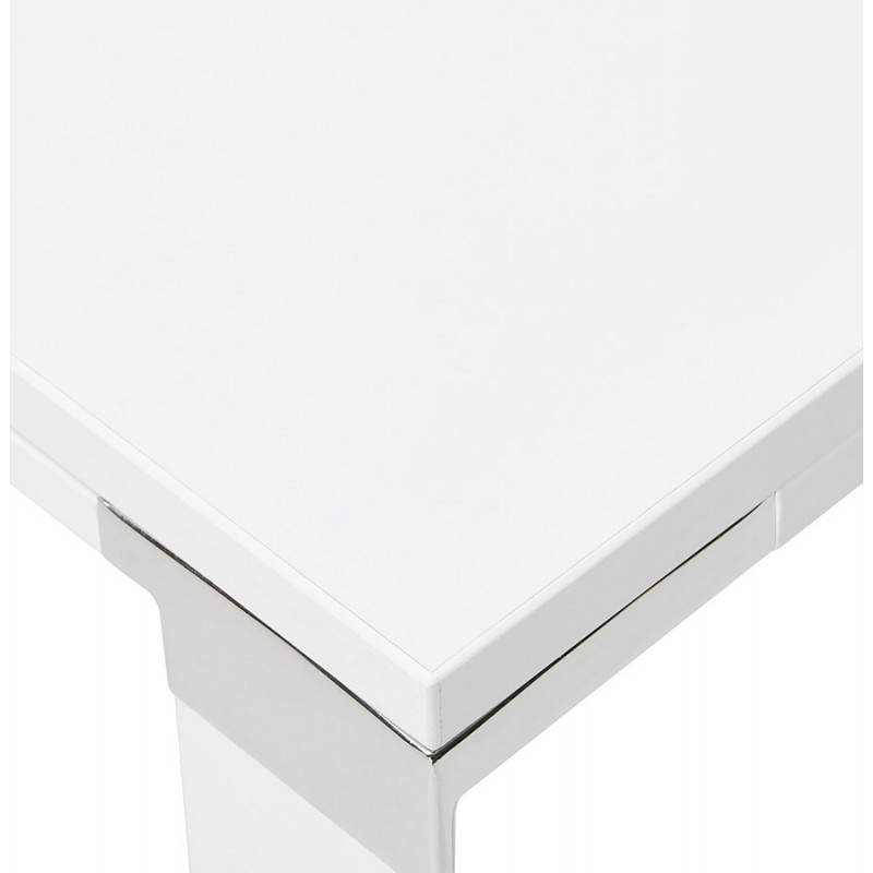 Bureau d'angle design CORPORATE en bois (blanc) - image 26071
