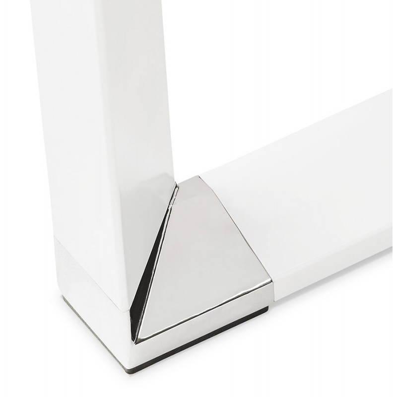 Bureau d 39 angle design corporate en bois blanc - Bureau d angle bois ...
