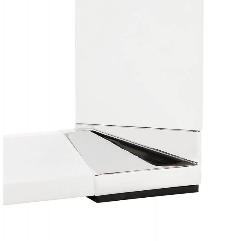 Bureau d 39 angle design corporate en bois blanc - Bureau d angle design blanc ...